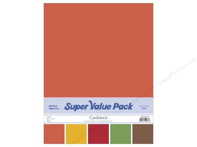 Cardstock Super Value Pack 8 1/2 x 11 in. Fruity Variety 40 pc.