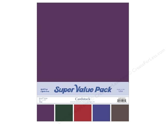 Cardstock Super Value Pack 8 1/2 x 11 in. Jewel Tones Variety 40 pc.