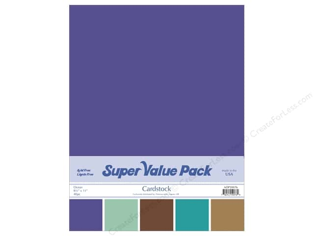 Cardstock Super Value Pack 8 1/2 x 11 in. Ocean Variety 40 pc.