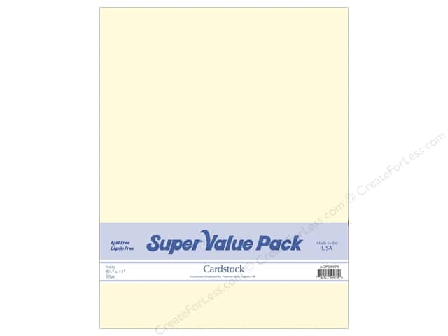 Cardstock Super Value Pack 8 1/2 x 11 in. Ivory 50 pc.