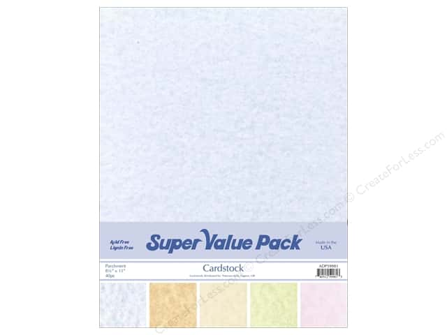 Cardstock Super Value Pack 8 1/2 x 11 in. Parchment Variety 40 pc.