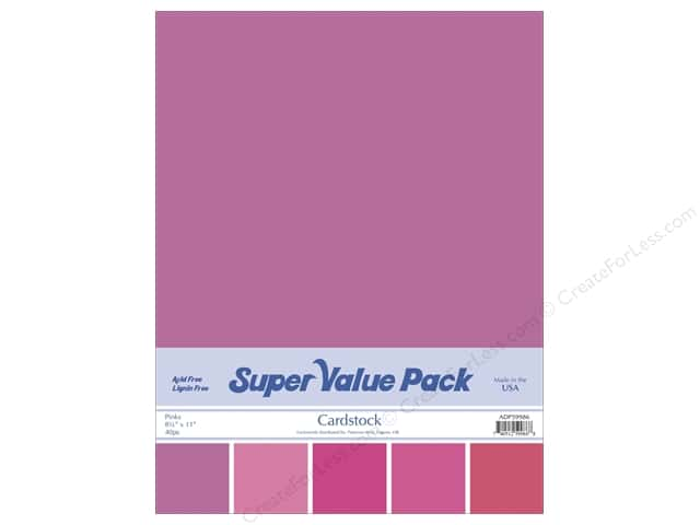 Cardstock Super Value Pack 8 1/2 x 11 in. Pinks Variety 40 pc.