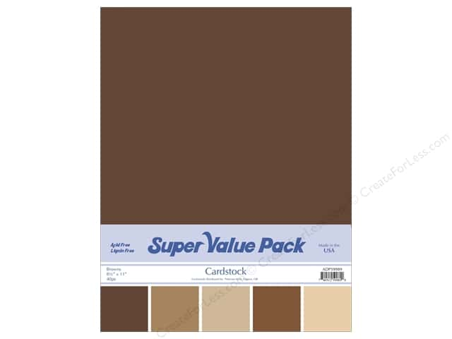 Cardstock Super Value Pack 8 1/2 x 11 in. Browns Variety 40 pc.