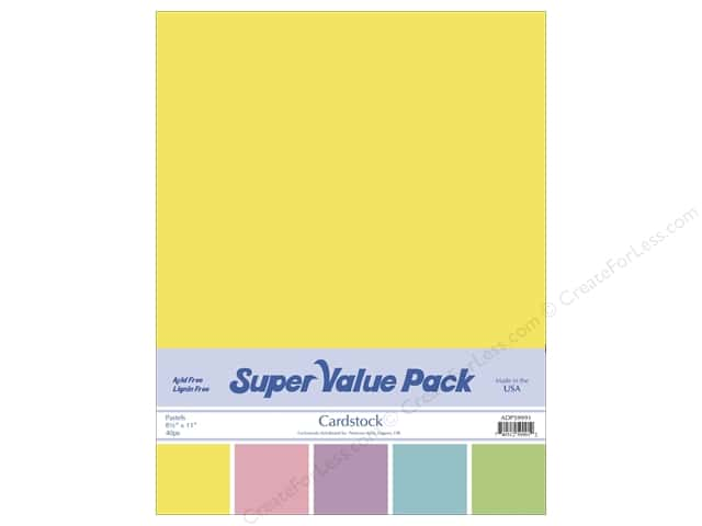 Cardstock Super Value Pack 8 1/2 x 11 in. Pastels Variety 40 pc.