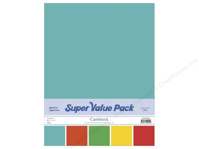 Cardstock Super Value Pack 8 1/2 x 11 in. Summer Variety 40 pc.