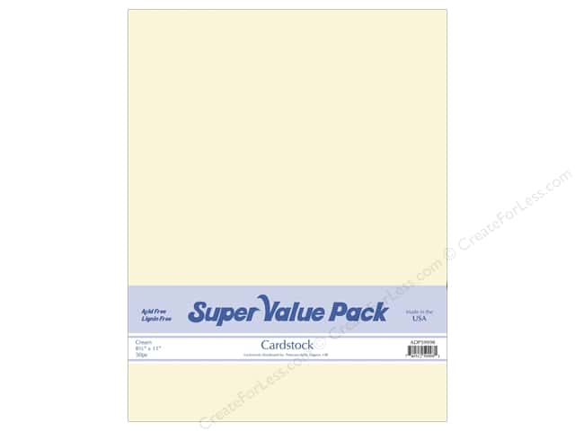 Cardstock Super Value Pack 8 1/2 x 11 in. Cream 50 pc.
