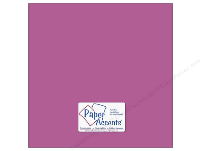 Paper Accents Cardstock 12 x 12 in. #8849 Fluorescent Neon Purple (25 sheets)