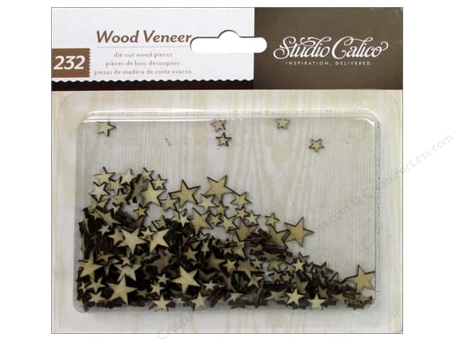 Studio Calico Wood Veneer Classic Calico 2 Tiny Stars
