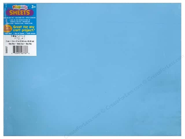Foamies Foam Sheet 9 x 12 in. 2 mm. Baby Blue (10 sheets)