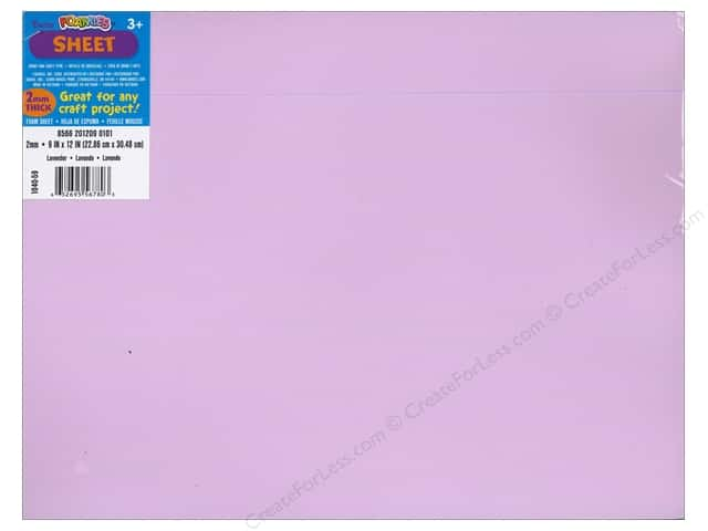 Darice Foamies Foam Sheet 9 x 12 in. 2 mm. Lavender (10 sheets)
