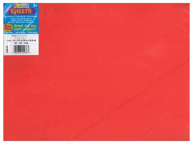 Darice Foamies Foam Sheet 9 x 12 in. 2 mm. Red (10 sheets)