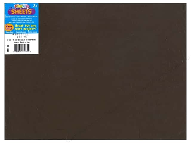 Darice Foamies Foam Sheet 9 x 12 in. 2 mm. Brown