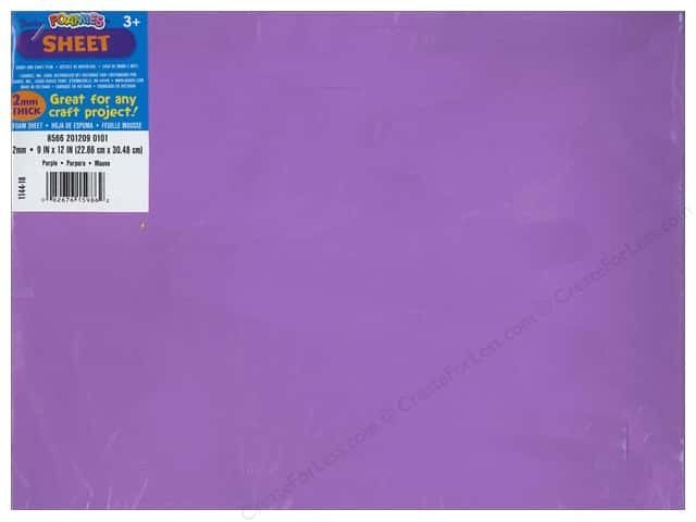 Darice Foamies Foam Sheet 9 x 12 in. 2 mm. Purple (10 sheets)