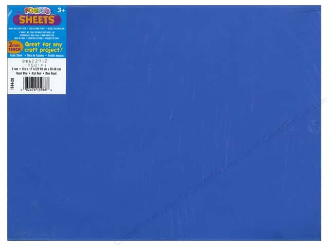 Foamies Foam Sheet 9 x 12 in. 2 mm. Royal Blue (10 sheets)