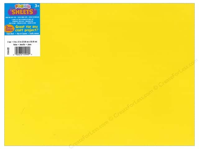 Darice Foamies Foam Sheet 9 x 12 in. 2 mm. Yellow