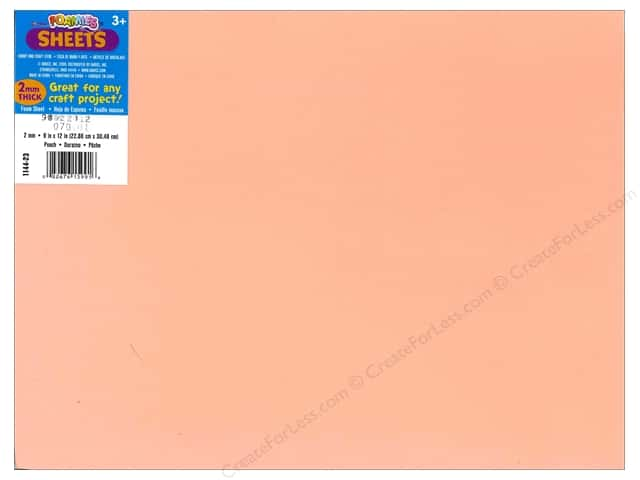 Foamies Foam Sheet 9 x 12 in. 2 mm. Peach (10 sheets)