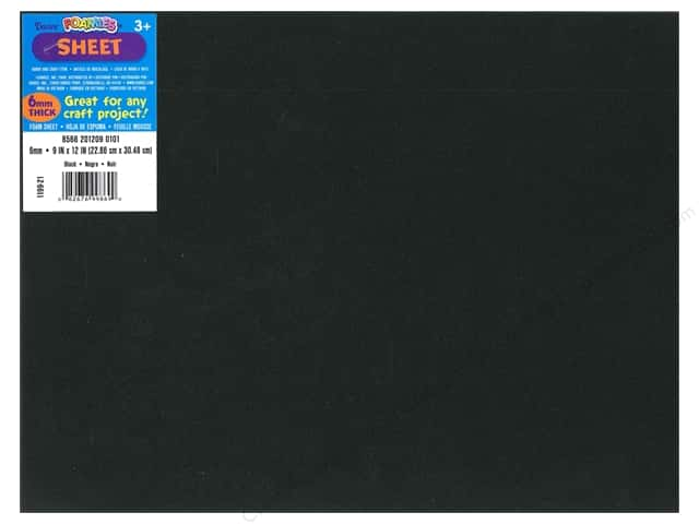 Foamies Foam Sheet 9 x 12 in. 6 mm. Black