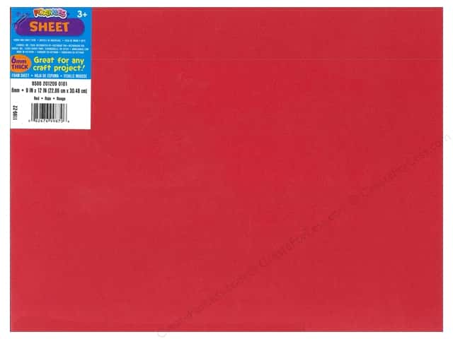 Foamies Foam Sheet 9 x 12 in. 6 mm. Red