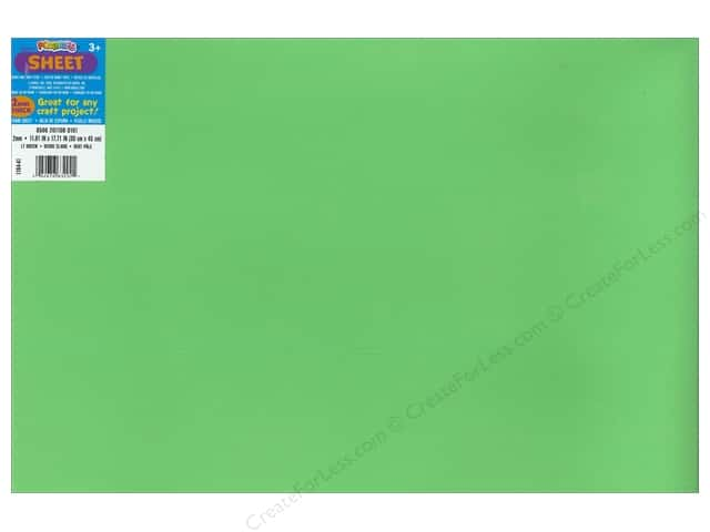 Darice Foamies Foam Sheet 12 x 18 in. 2 mm. Light Green