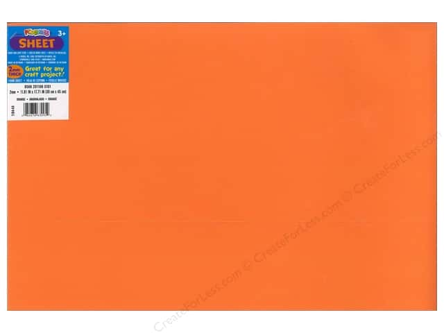 Foamies Foam Sheet 12 x 18 in. 2 mm. Orange (10 sheets)