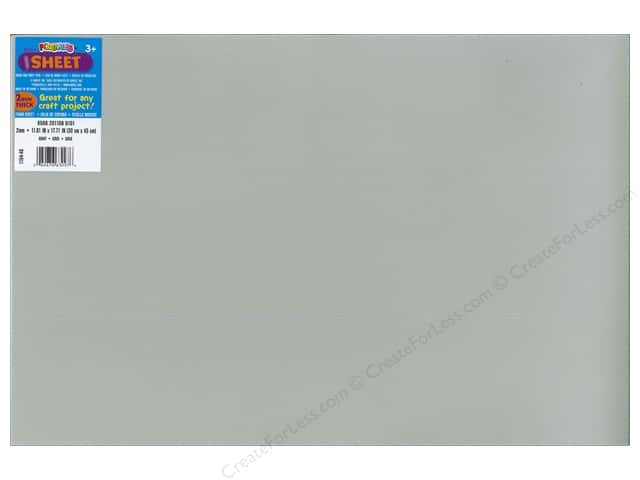 Darice Foamies Foam Sheet 12 x 18 in. 2 mm. Grey (10 sheets)
