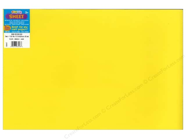 Foamies Foam Sheet 12 x 18 in. 2 mm. Yellow (10 sheets)