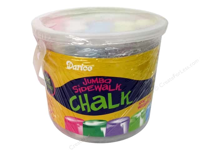 Darice Kid's Crafts Sidewalk Chalk Jumbo 20 pc.