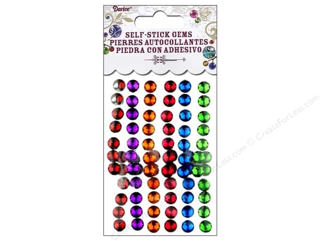 Darice Self-Stick Gems 7 mm Round 78 pc. Juicy Jewel