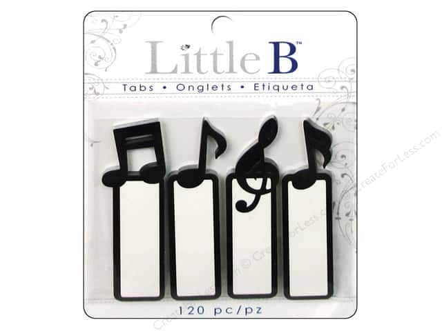 Little B Adhesive Tabs Music Notes