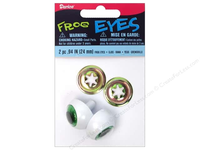Darice Frog Eyes with Metal Washers 24 mm Green 2 pc.