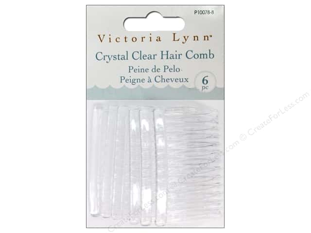 Darice Victoria Lynn Hair Combs 2 3/4 x 1 1/2 in. Clear 6 pc.