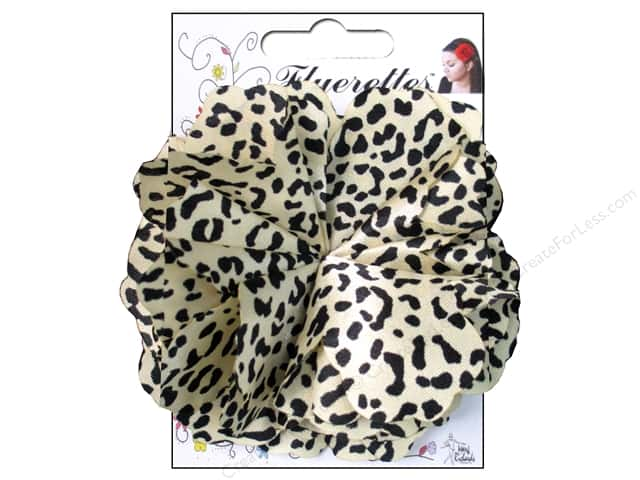 Mark Richards Fluerettes Flower Satin Cheetah Black/Beige