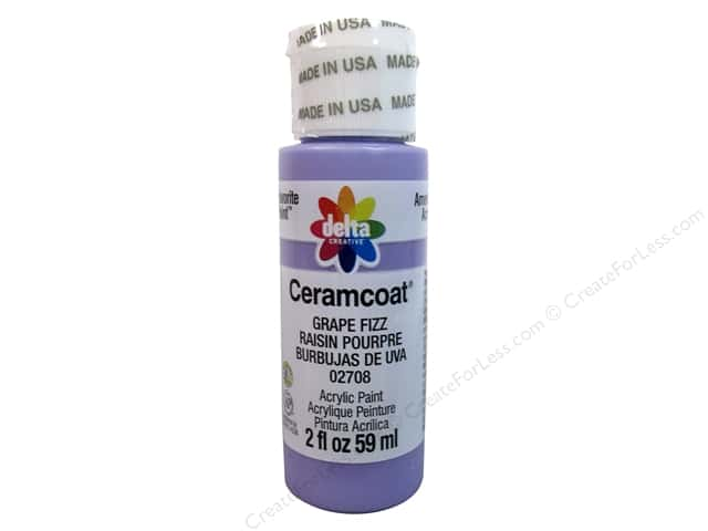 Ceramcoat Acrylic Paint by Delta 2 oz. #2708 Grape Fizz