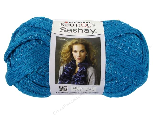 Red Heart Boutique Sashay Yarn #1502 Turquoise 30 yd.
