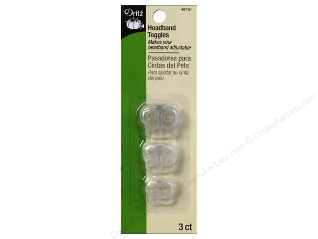Headband Toggles by Dritz Assorted Clear 3 pc.