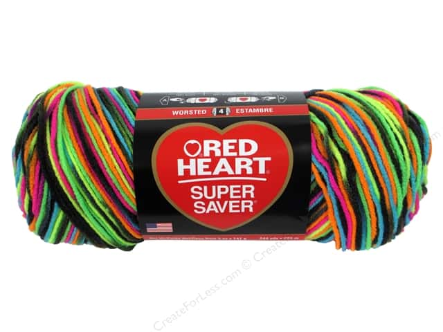 Red Heart Super Saver Yarn 236 yd. #3939 Blacklight