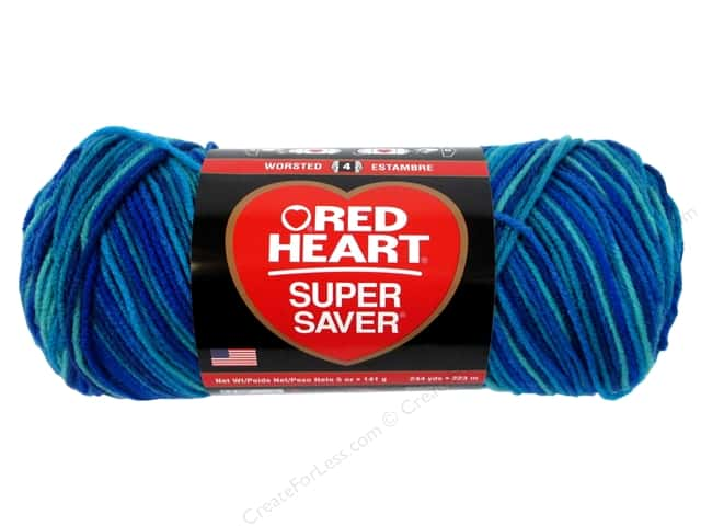 Red Heart Super Saver Yarn 236 yd. #3944 Macaw