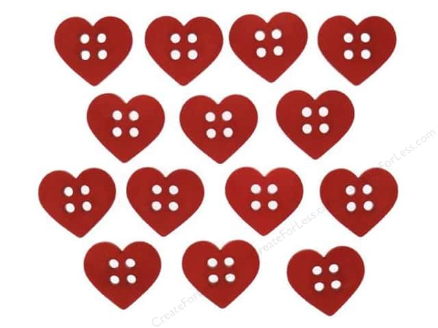 Jesse James Dress It Up Embellishments Sew Cute Red Hearts