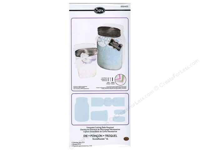 Sizzix ScoreBoards XL Die Canning Jars 3D by Eileen Hull