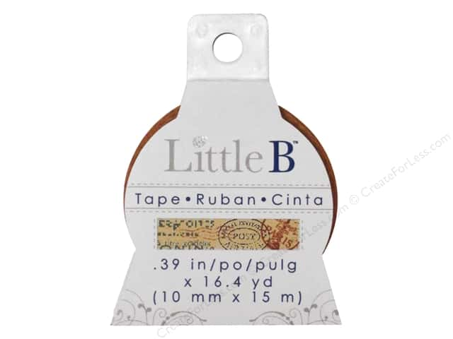 Little B Decorative Paper Tape 3/8 in. Postmark