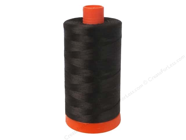Aurifil Mako Cotton Quilting Thread 50 wt. #1130 Very Dark Bark 1420 yd.