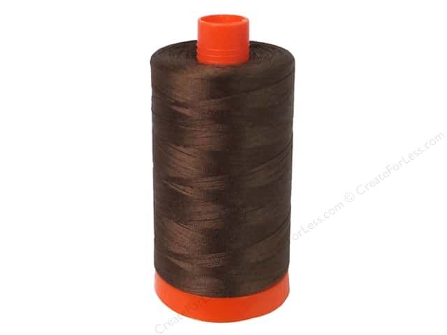 Aurifil Mako Cotton Quilting Thread 50 wt. #2360 Chocolate 1420 yd.