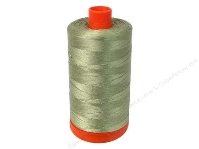 Aurifil Mako Cotton Quilting Thread 50 wt. #5085 Light Khaki Green 1420 yd.