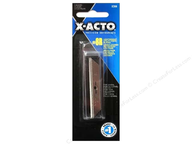 X-Acto #8R Lightweight Utility Blade 5 pc.