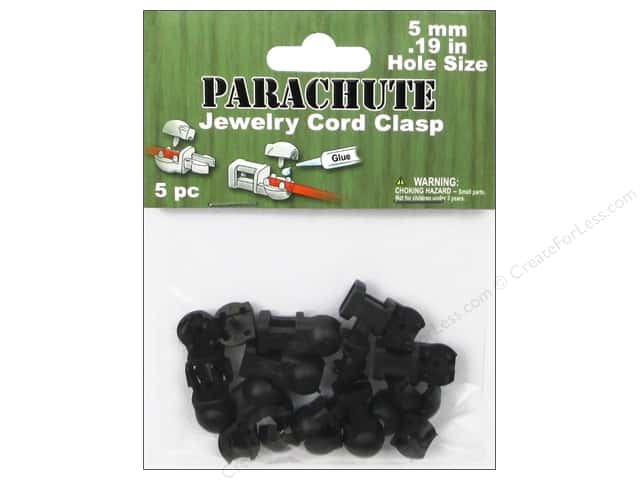Pepperell Parachute Jewelry Cord Clasps 5 pc.