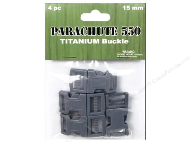 Pepperell Parachute Cord Buckle 5/8 in. Titanium 4 pc.