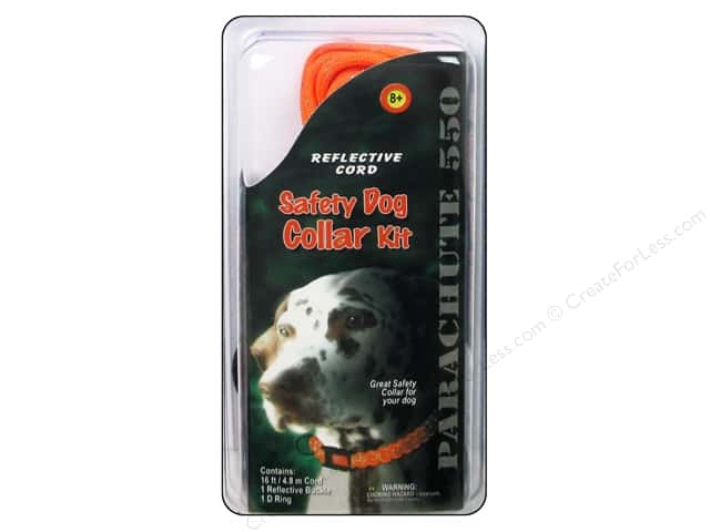 Pepperell Parachute Cord Accessories Reflective Safety Dog Collar Kit