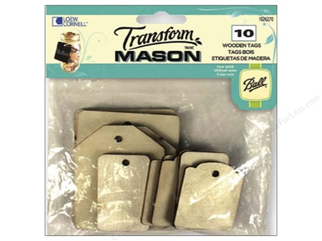 Loew Cornell Transform Mason Wooden Tags 10 pc. Rectangles