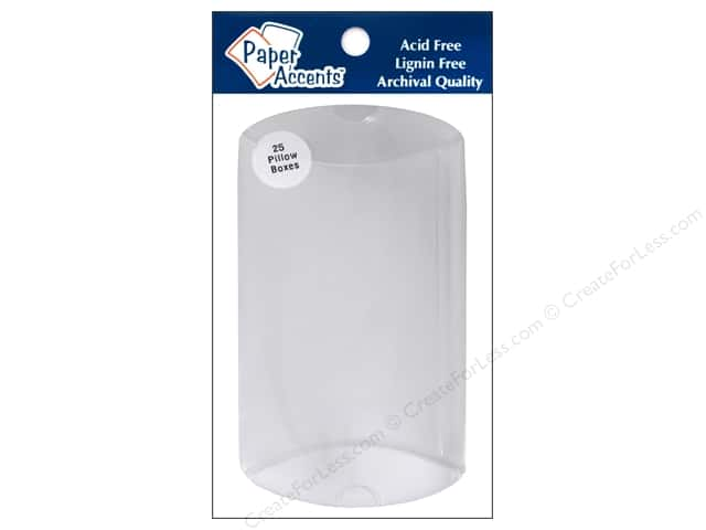 Paper Accents Pillow Box 4 x 1 1/8 x 6 in. 25 pc. Clear