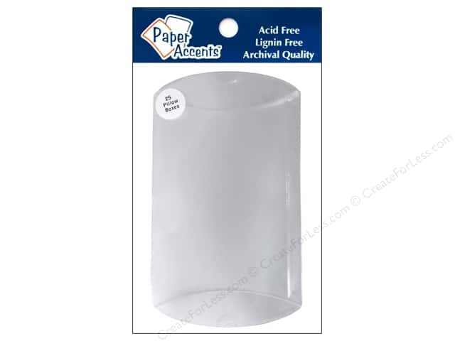 Paper Accents Pillow Box 5 x 1 1/4 x 7 in. 25 pc. Clear